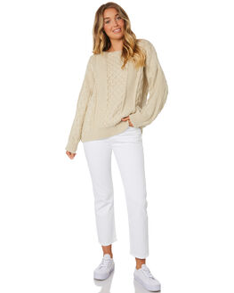 OATMEAL WOMENS CLOTHING LILYA KNITS + CARDIGANS - DK10-LAW19OAT