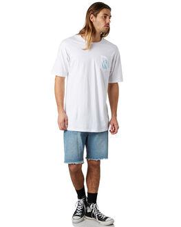 WHITE AQUA MENS CLOTHING CAPTAIN FIN CO. TEES - CFM3231517WHA