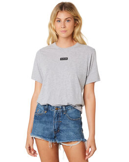 GREY HEATHER WOMENS CLOTHING HURLEY TEES - GTSPSMLG050