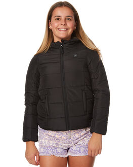 BLACK KIDS GIRLS RIP CURL JACKETS - JJKAE10090