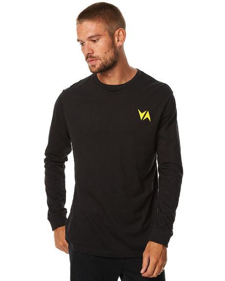 BLACK MENS CLOTHING RVCA TEES - R173113BLK