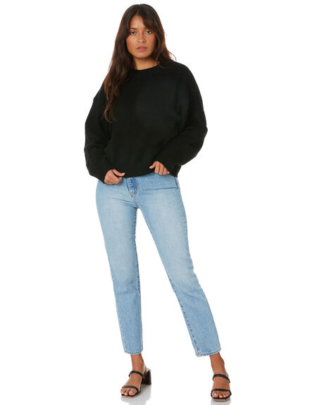 BLACK WOMENS CLOTHING NUDE LUCY KNITS + CARDIGANS - NU23628BLK