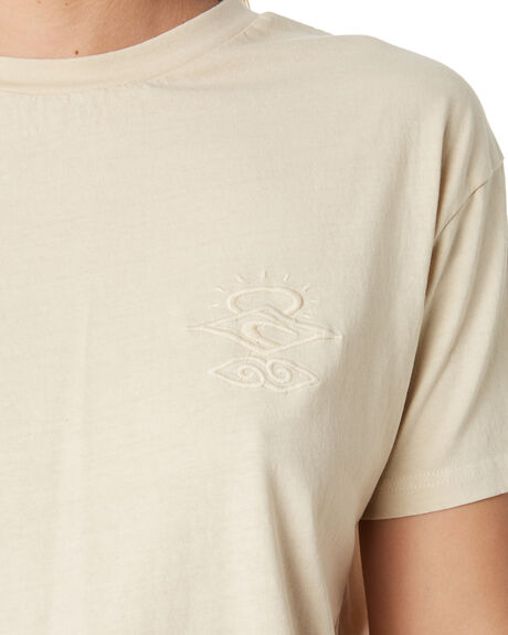 TAUPE WOMENS CLOTHING RIP CURL TEES - GTEHR95067