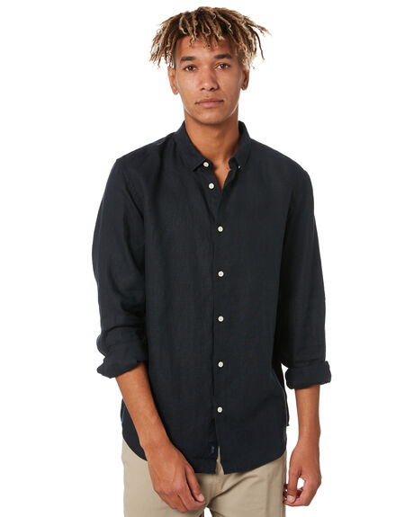 BLACK MENS CLOTHING ACADEMY BRAND SHIRTS - BA848BLK
