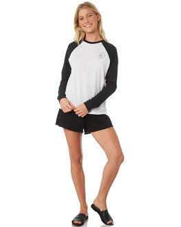 BLACK WHITE WOMENS CLOTHING VOLCOM TEES - B0131875BWH