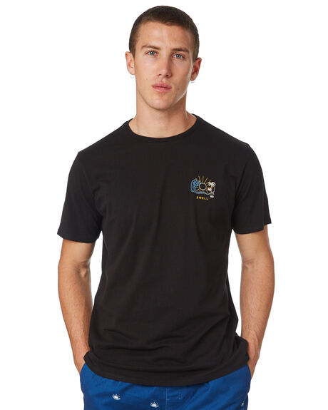 BLACK MENS CLOTHING SWELL TEES - S5182012BLACK
