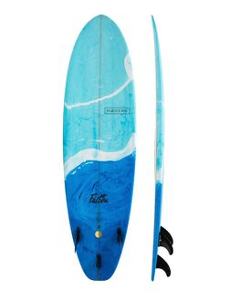 BLUE SWIRL TINT BOARDSPORTS SURF MODERN LONGBOARDS GSI SURFBOARDS - MD-FALCPU-BLUS
