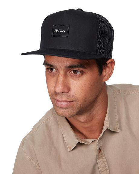 BLACK MENS ACCESSORIES RVCA HEADWEAR - RV-R307564-BLK