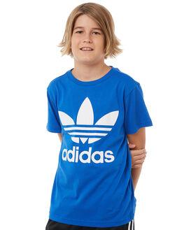 BLUE WHITE KIDS BOYS ADIDAS ORIGINALS TEES - CF8550BLUWH