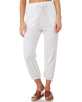 WHITE WOMENS CLOTHING RUSTY PANTS - PAL1123WHT
