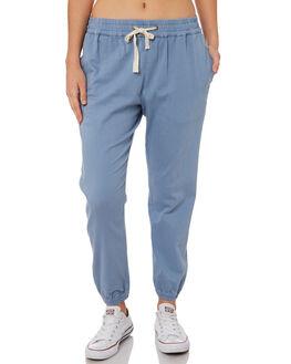 LIGHT BLUE WOMENS CLOTHING RIP CURL PANTS - GPAER11080