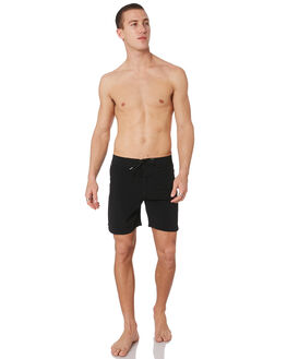 BLACK MENS CLOTHING STACEY BOARDSHORTS - STBS003BLK17BLK