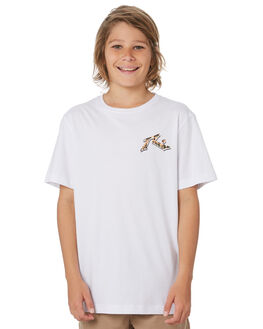 WHITE KIDS BOYS RUSTY TOPS - TTB0632WHT