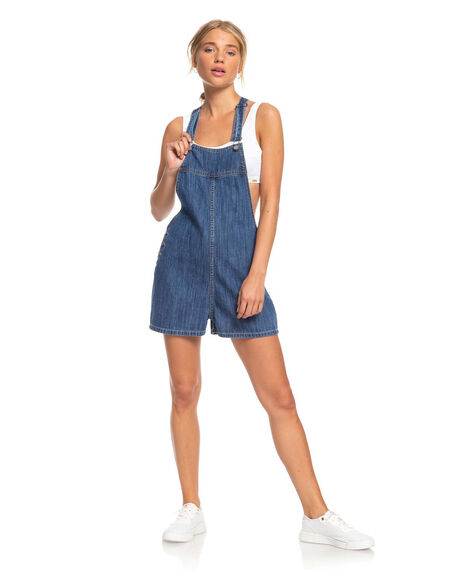 MEDIUM BLUE WOMENS CLOTHING ROXY PLAYSUITS + OVERALLS - ERJDS03224-BMTW