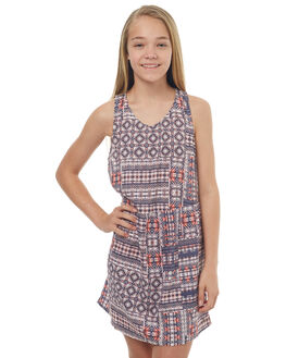 MEXICAN RUG KIDS GIRLS ROXY DRESSES - ERGWD03045WBT6
