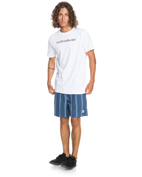 WHITE MENS CLOTHING QUIKSILVER TEES - EQYZT06212-WBB0