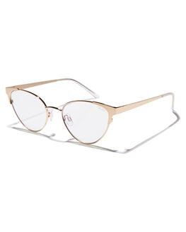 GOLD CLEAR WOMENS ACCESSORIES QUAY EYEWEAR SUNGLASSES - QW-000357GLDCL