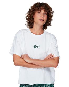 WHITE WOMENS CLOTHING RVCA TEES - RV-R292685-WHT