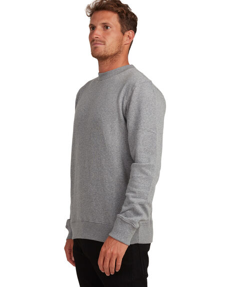 LIGHT GREY HEATHER MENS CLOTHING QUIKSILVER JUMPERS - EQYFT04184-SJSH