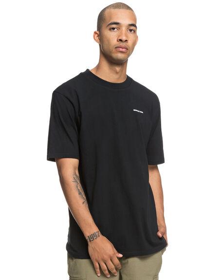 BLACK MENS CLOTHING DC SHOES TEES - UDYZT03552KVJ0