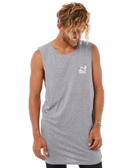 GREY MENS CLOTHING FEAT SINGLETS - FTMTDEL01GRY