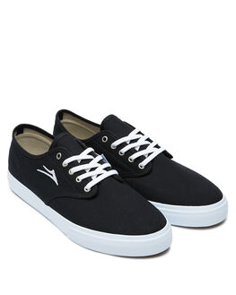 BLACK CANVAS MENS FOOTWEAR LAKAI SNEAKERS - MS1200255A00-BKCNV