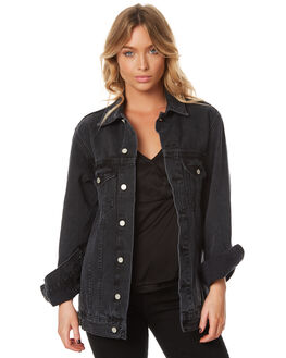 AGED BLACK WOMENS CLOTHING ASSEMBLY JACKETS - AW-W21727ABLK