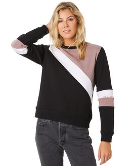 BLACK DUSTY PINK WOMENS CLOTHING ALL ABOUT EVE JUMPERS - 6436028BLK