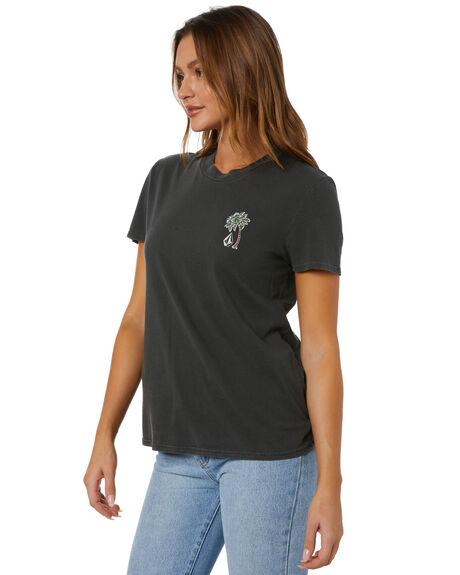BLACK WOMENS CLOTHING VOLCOM TEES - B3512102BLK
