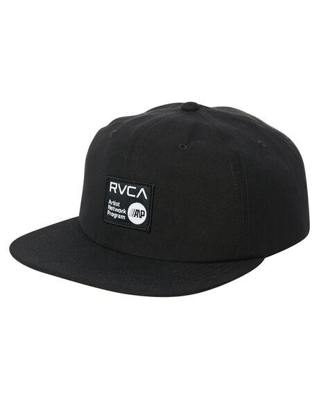 BLACK MENS ACCESSORIES RVCA HEADWEAR - R361562ABLK