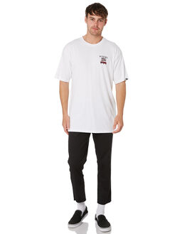 WHITE MENS CLOTHING VANS TEES - VNA3W41WHTWHI
