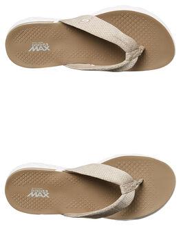 TAUPE WOMENS FOOTWEAR SKECHERS THONGS - 14656TPE
