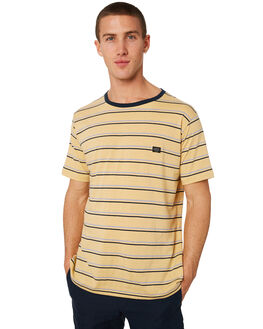 MUSTARD STRIPE MENS CLOTHING BARNEY COOLS TEES - 107-CR3MSTRP