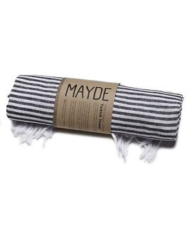 BLACK WOMENS ACCESSORIES MAYDE TOWELS - S13ANNOOSABLK