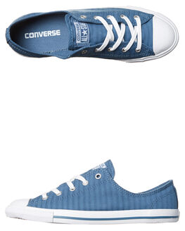 BLUE COAST WHITE WOMENS FOOTWEAR CONVERSE SNEAKERS - 555889BLU
