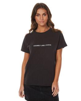 WORN BLACK WOMENS CLOTHING ASSEMBLY TEES - AW-W217104WBLK