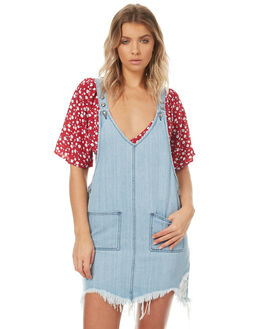 WASH BLUE WOMENS CLOTHING SOMEDAYS LOVIN PLAYSUITS + OVERALLS - SL1703950WBLU