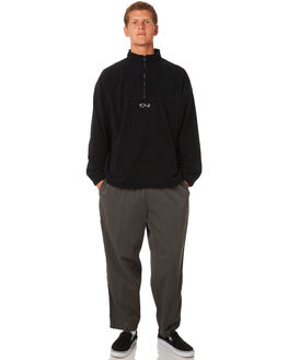 BLACK MENS CLOTHING POLAR SKATE CO. JUMPERS - PSCLWFLEECEBLK