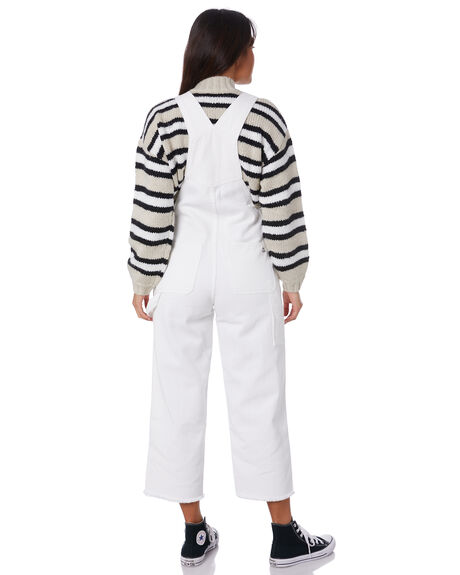 WHITE WOMENS CLOTHING MISFIT PLAYSUITS + OVERALLS - MT193608WHT
