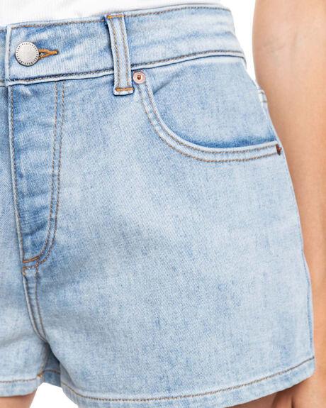 LIGHT BLUE WOMENS CLOTHING ROXY SHORTS - ERJDS03266-BFN0
