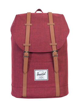 WINE CROSSHATCH MENS ACCESSORIES HERSCHEL SUPPLY CO BAGS - 10066-01158-OSWINE