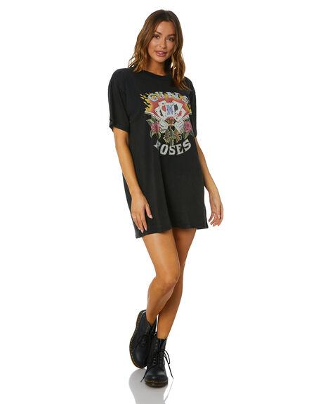 VINTAGE BLACK WOMENS CLOTHING UNIVERSAL DRESSES - GNR434VBLK