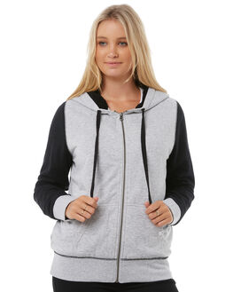 BLACK GREY WOMENS CLOTHING RIP CURL ACTIVEWEAR - GFEGY10097