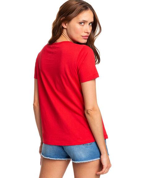 CHINESE RED WOMENS CLOTHING ROXY TEES - ERJZT04746-RQQ0