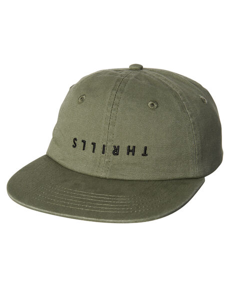 ARMY GREEN MENS ACCESSORIES THRILLS HEADWEAR - TW8-1006FARM