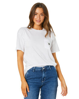 WHITE GREY HEATHER WOMENS CLOTHING CARHARTT TEES - I0218900290