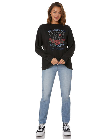 BLACK WOMENS CLOTHING ALL ABOUT EVE TEES - 6474011WBLK