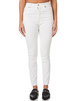 ORGANIC WHITE WOMENS CLOTHING DR DENIM JEANS - 1410104C08