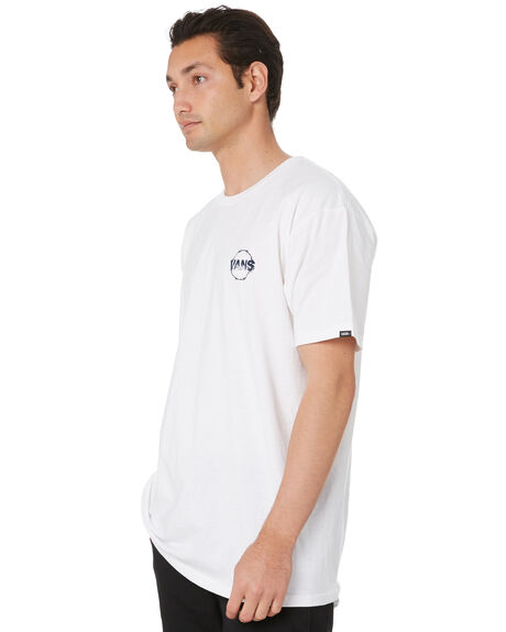 WHITE MENS CLOTHING VANS TEES - VN0A4MROWHTWHT