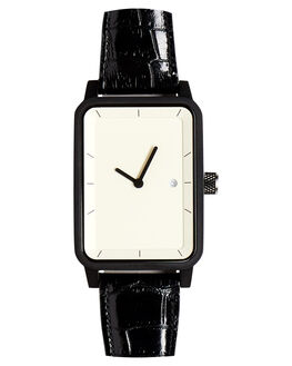 BLACK CROC WHITE WOMENS ACCESSORIES SIMPLE WATCH CO WATCHES - SW07-37BLKCR